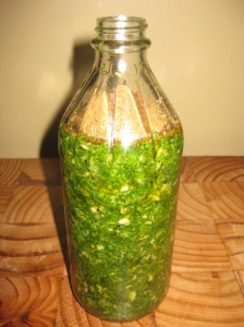6 natural salad dressing adding spices to the bottle